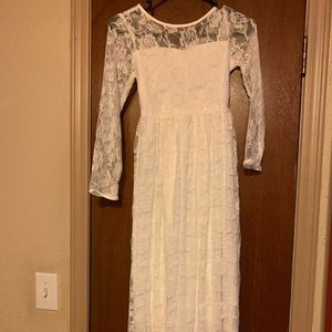 Other - White dress girls size 10/12
